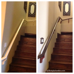 Before and After Handrail Restyle