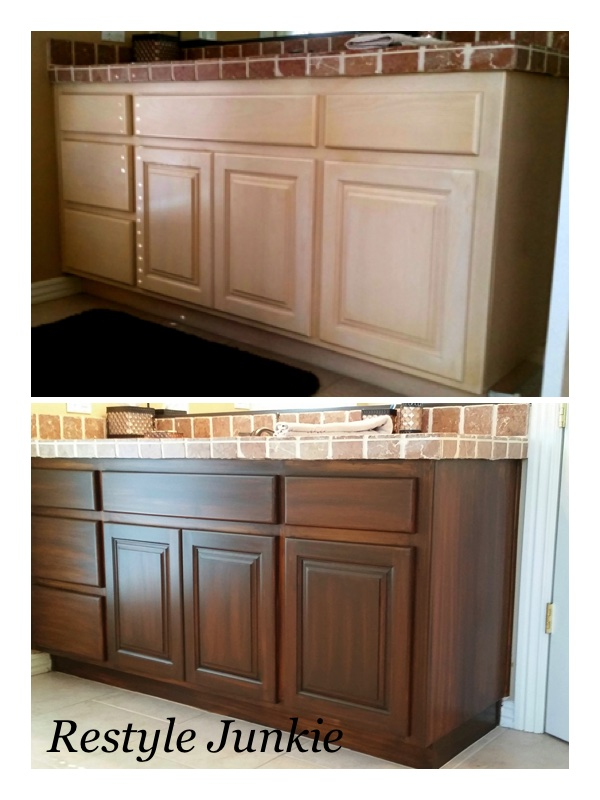 stained oak cabinets before and after choosing the right gel stain java gel stain vs 700