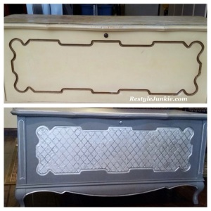 Before and After of Cedar Hope Chest Restyle
