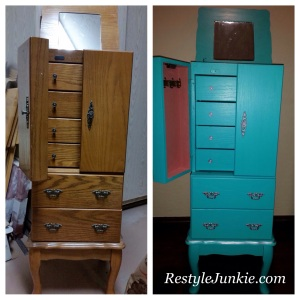 Before and After Jewelry Cabinet Photo