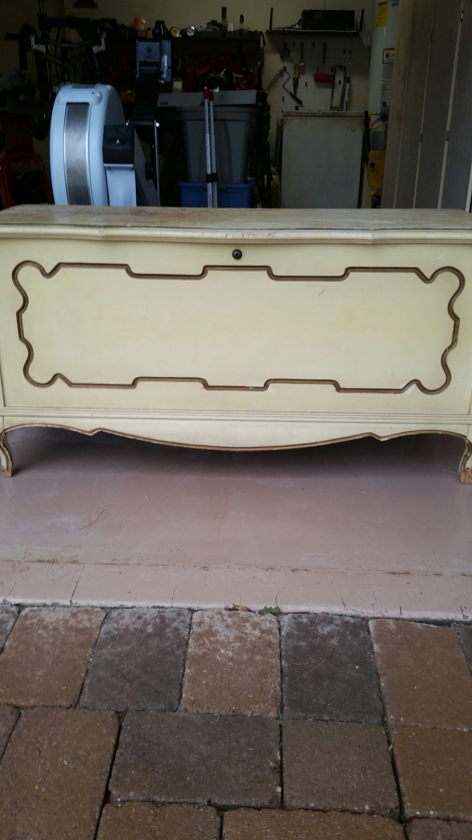 Before picture cedar hope chest