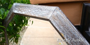 Upcycled snake skin mirror