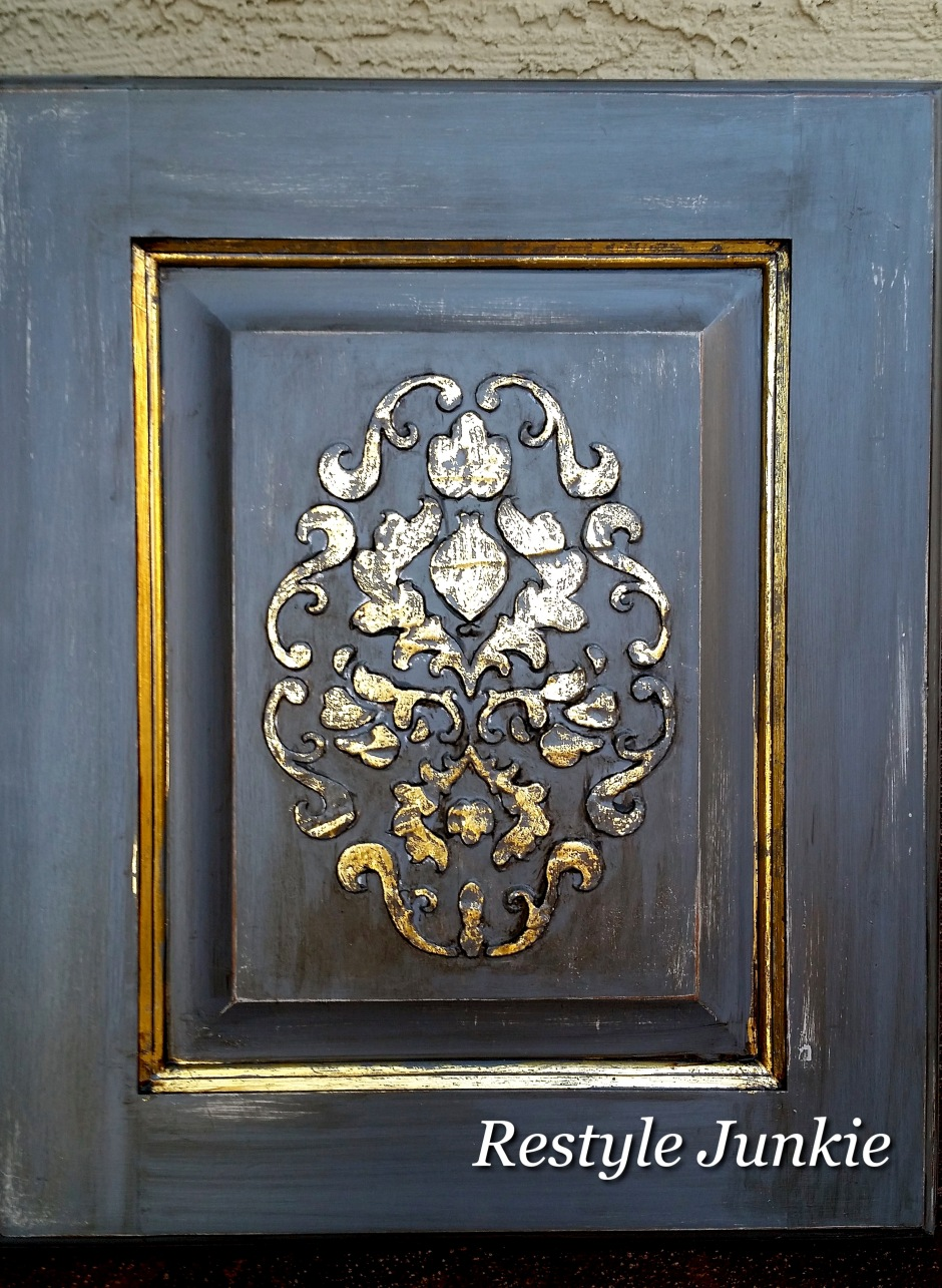 Gold and Gray cabinet